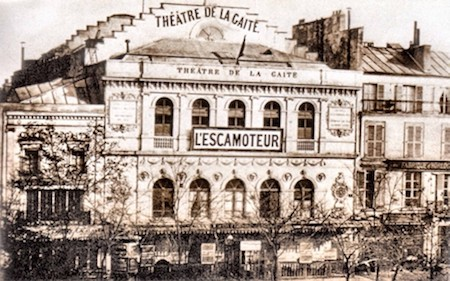 Theatre La Gaîté on the boulevard du Temple