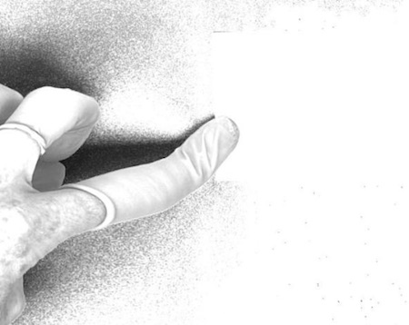 Google scanner's finger
