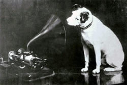 Dog and Phonograph
