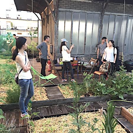 Visiting La Générale's rooftop garden