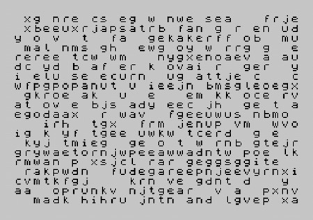 ZX Spectrum Babel text